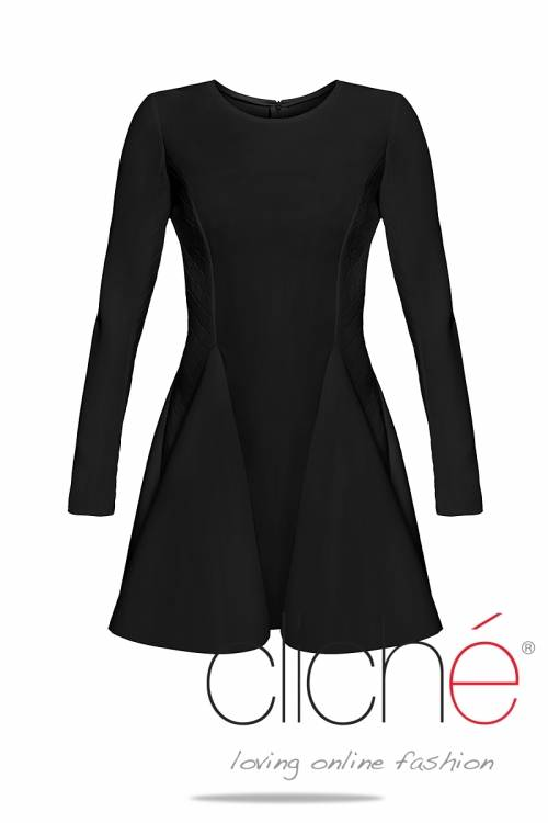 Black neopren dress