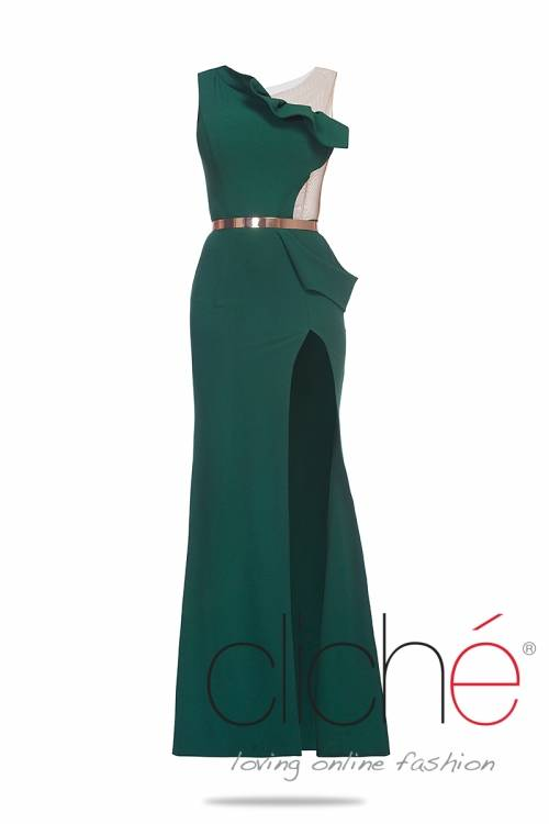 Official dress in oil-green