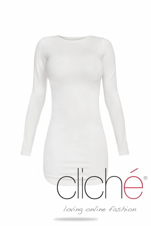 White longsleeved dress