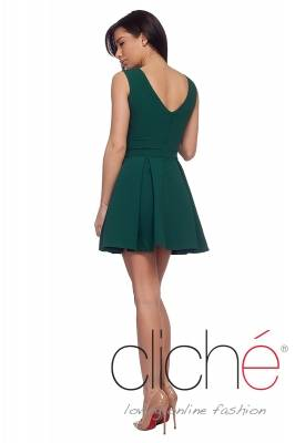 Oil green official mini dress
