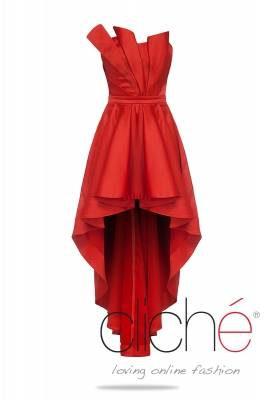 Cocktail asymmetric red dress
