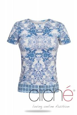 "T-shirt with print ""Blue on my mind"""