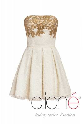 Lace balerina dress with golden elements