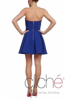 Official mini dress in blue