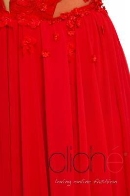 Red decorated dress