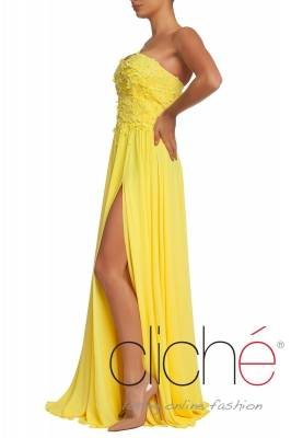 Official long dress in yellow