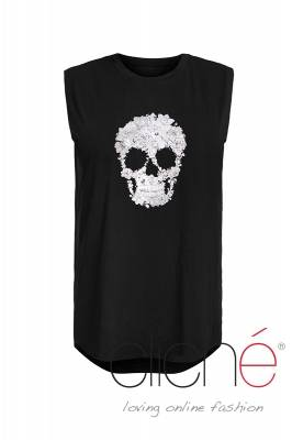 Black top with skull print