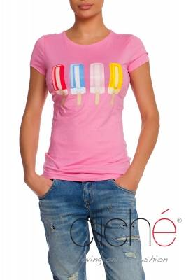 Ice cream t-shirt in pink