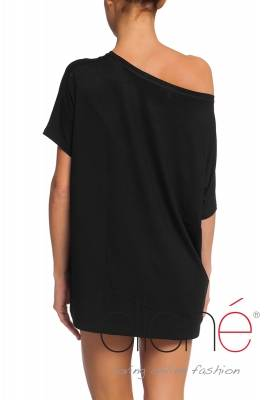 Oversized t-shirt with icecreams in black