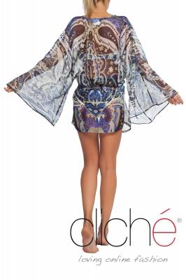 "Beach kaftan ""Blue"""
