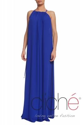 Long summer dres in blue
