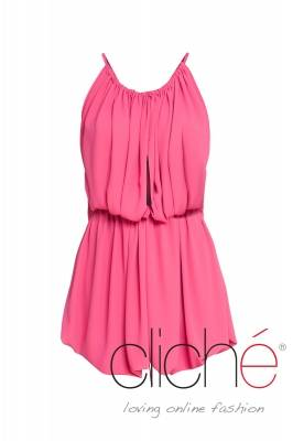 Short summer dress in pink