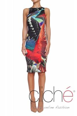 Fitted jungle dress