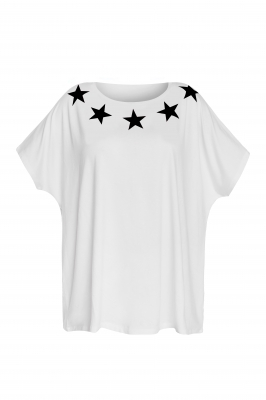 White t-shirt with stars
