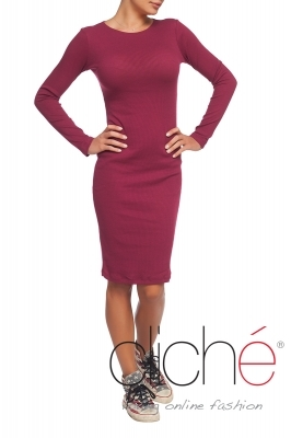 Wine red autumn dress