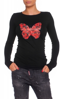 "Shirt with print ""Red Butterfly"""