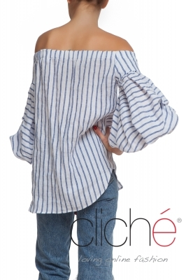 Linen shirt with stripes