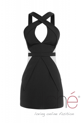 Black cut-out dress