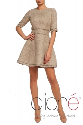 Short tweed dress