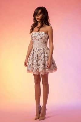 Mini prom dress with decorations
