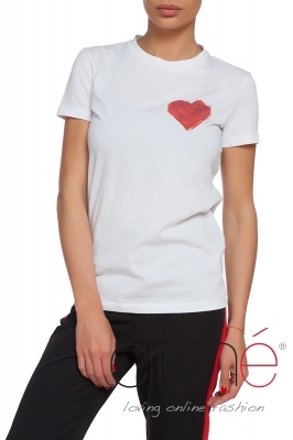 T-shirt with red heart
