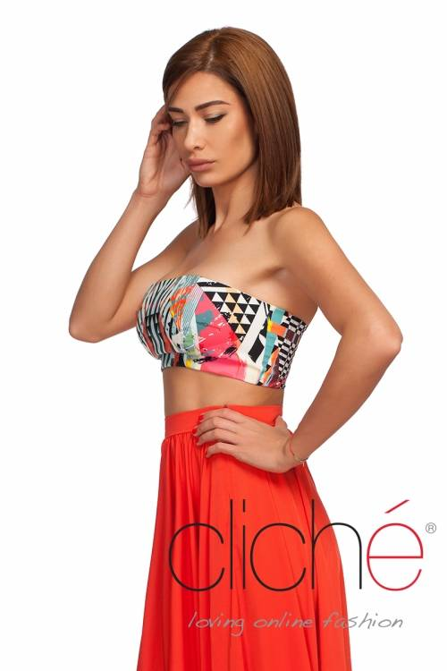 Crop top with print