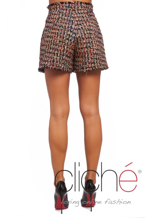 Boucle winter shorts