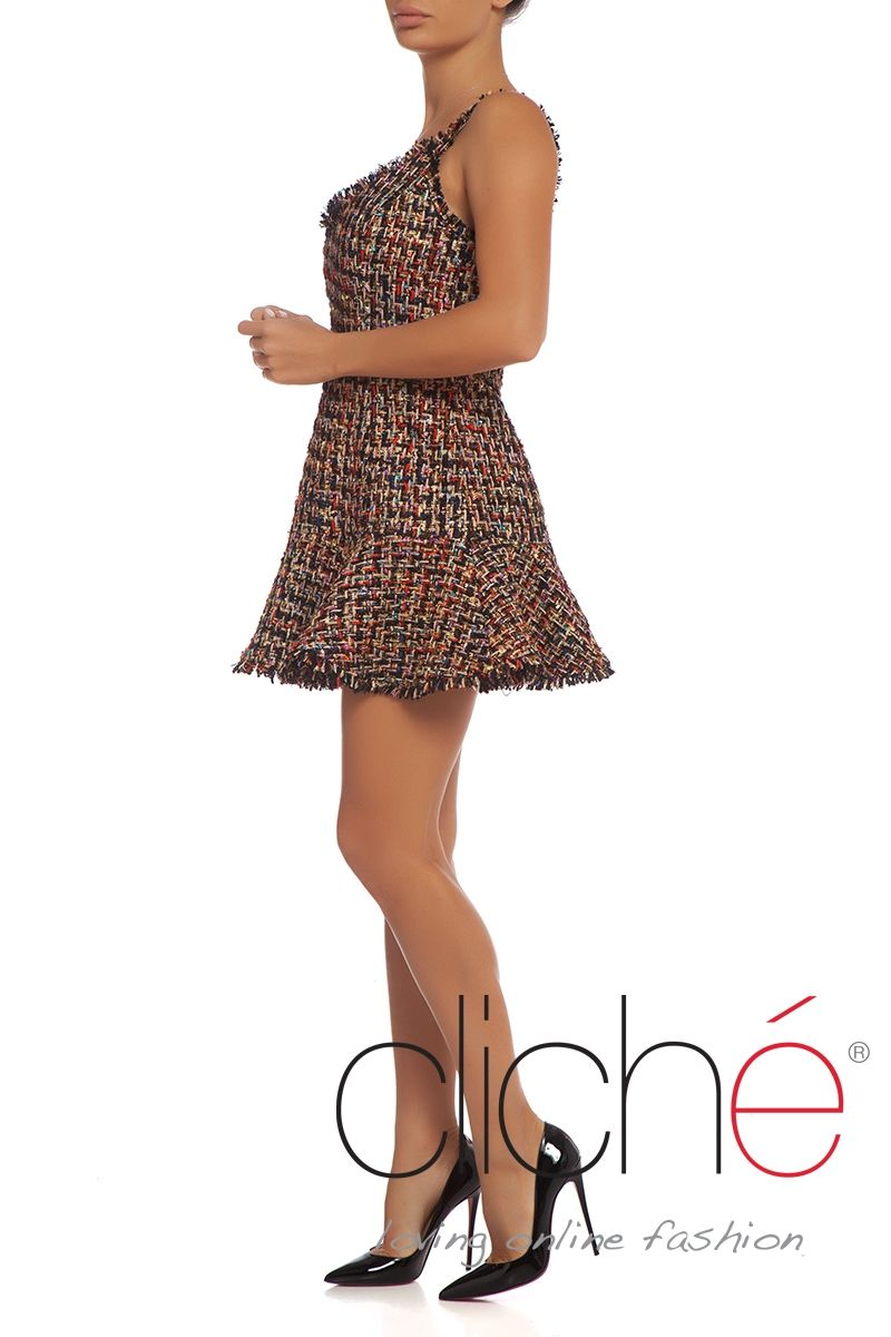 Boucle shift dress
