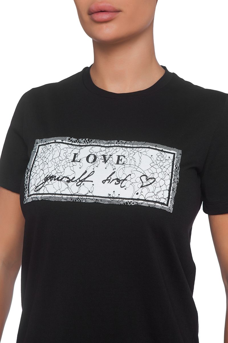 Black t-shirt Love Yourself First
