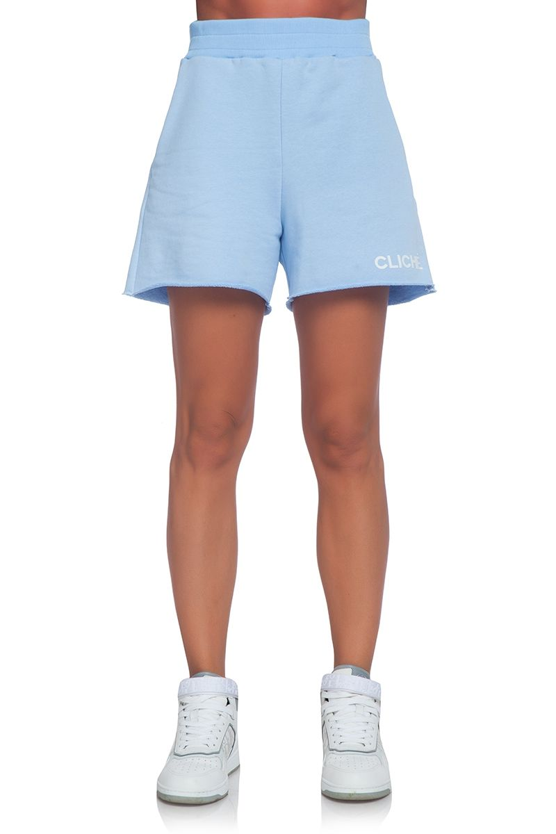 White ladies' shorts in blue