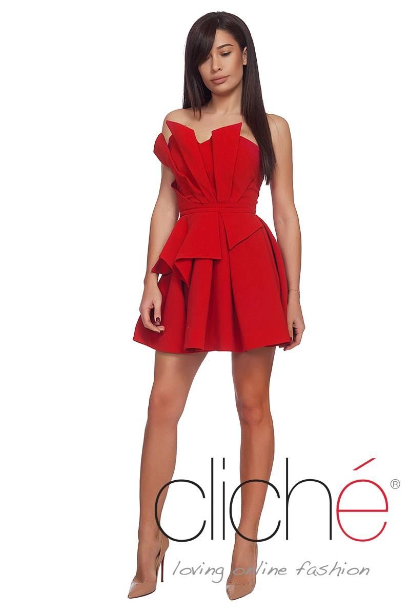 Червена рокля ветрило 9df6f03e660
