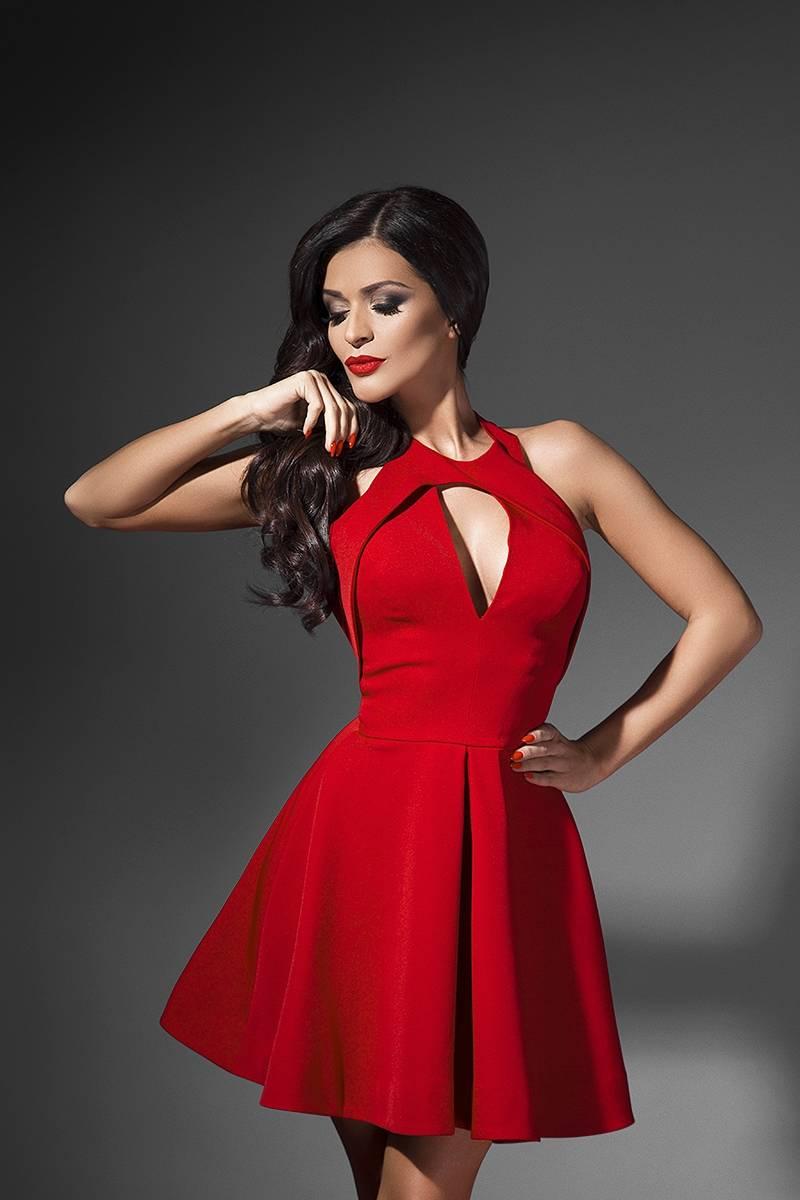 Червена рокля Cliche Reborn 95f927d7244