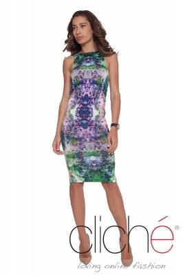 Dress with print with flowers