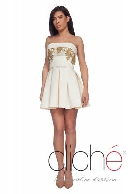 Official mini dress with crystals