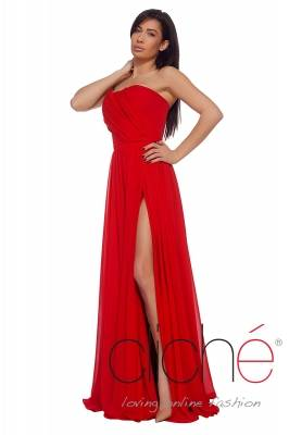 Official red chiffon dress