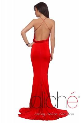 Evening dress with bare back
