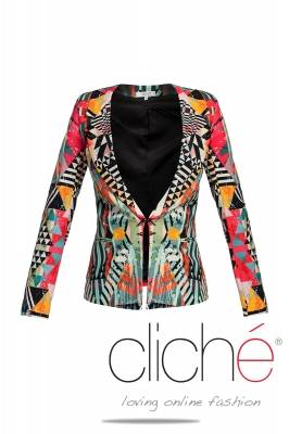 Trenchcoat in multicolor print