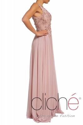 Evening gown in rose ashes