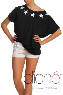 Oversize t-shirt with stars