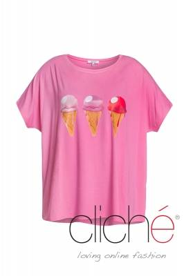 Pink t-shirt with icecreams