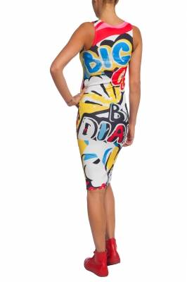 Dress with comics print