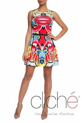 Pop art fit and flare dress