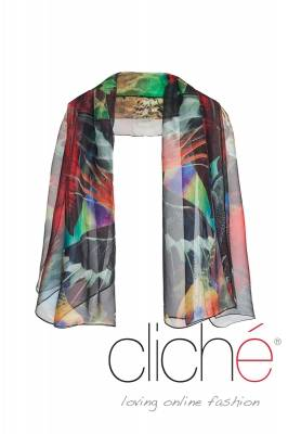 "Scarf wiht print ""Jungle"""
