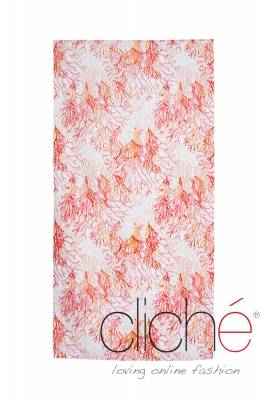 Coral beach towel