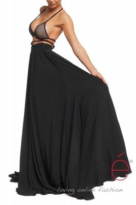 Black summer skirt