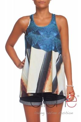 "Loose fit top ""Feathers"""