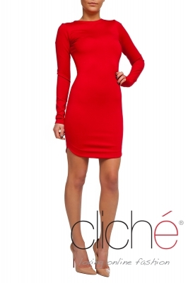 Slim fit-red dress