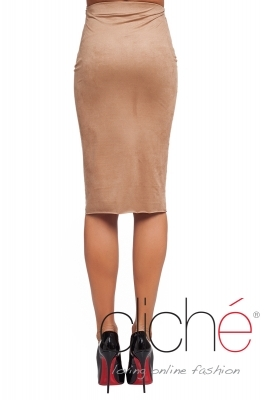 Suеde skirt in beige