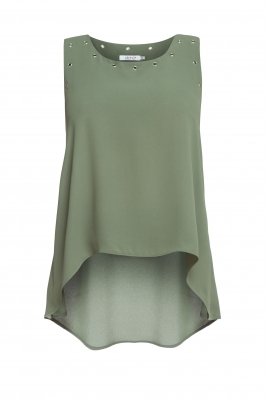 Green flared top
