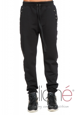Sport pants with safery pins